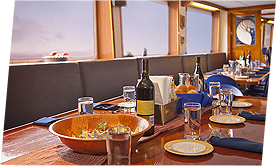Dining inside the nautilus explorer